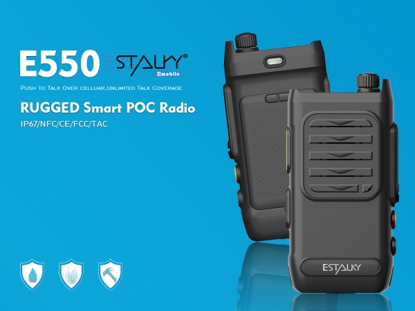 Estalky 4G small screen PTT Radio(E550), IP67 waterproof&1.5 drop standard